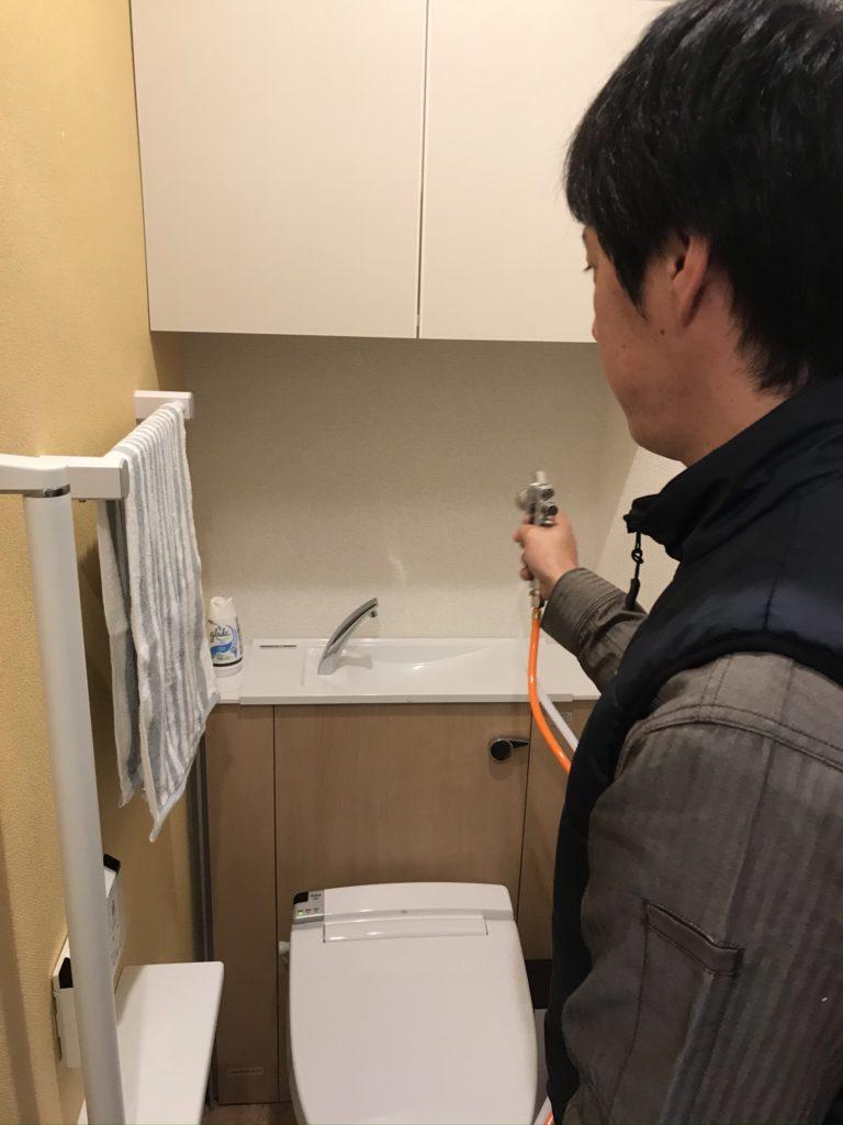 光触媒エコクリーン吹き付け・トイレ