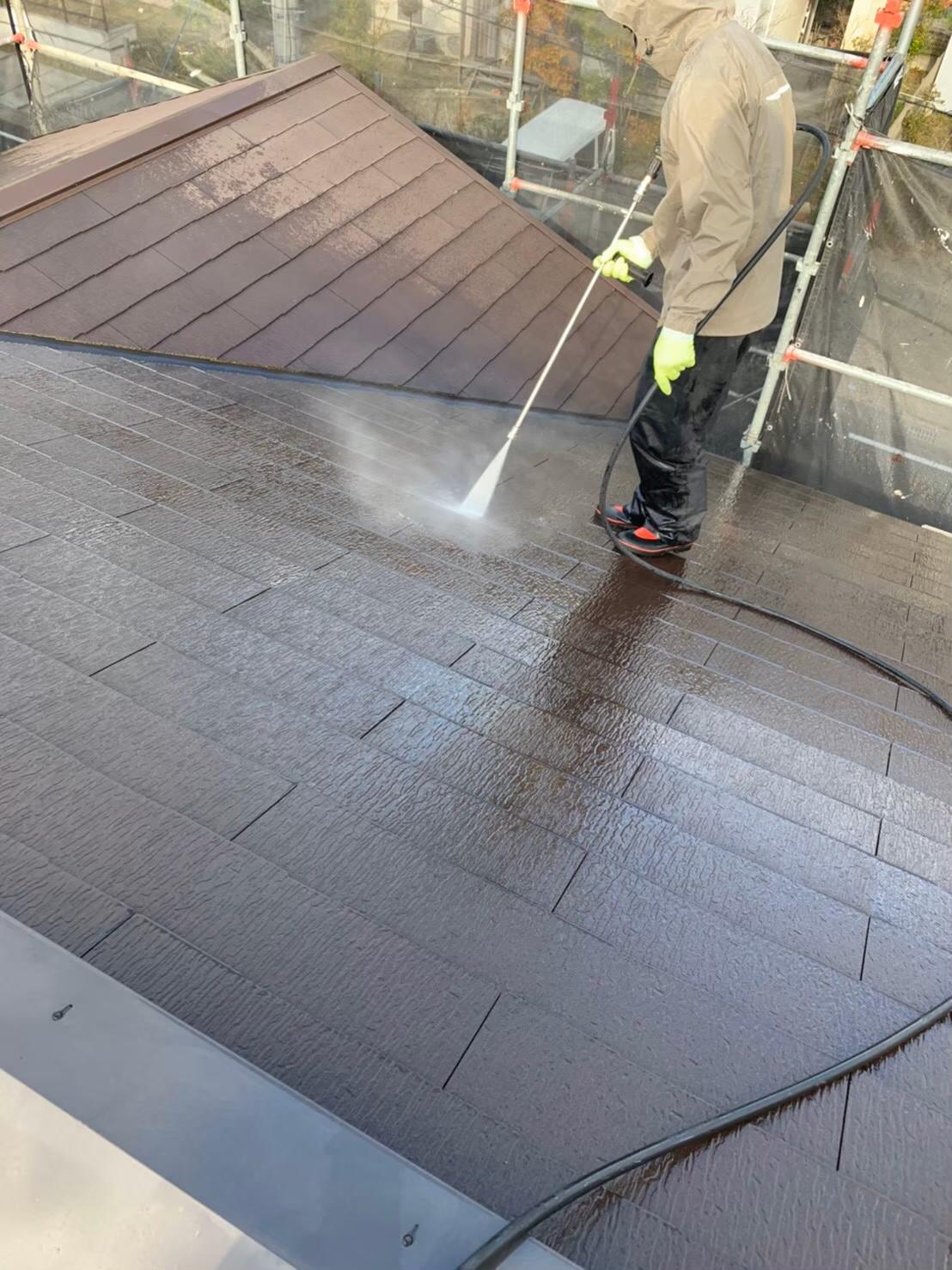 屋根の高圧洗浄 写真2