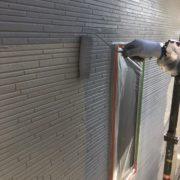 福岡市東区 外壁中塗り・上塗り