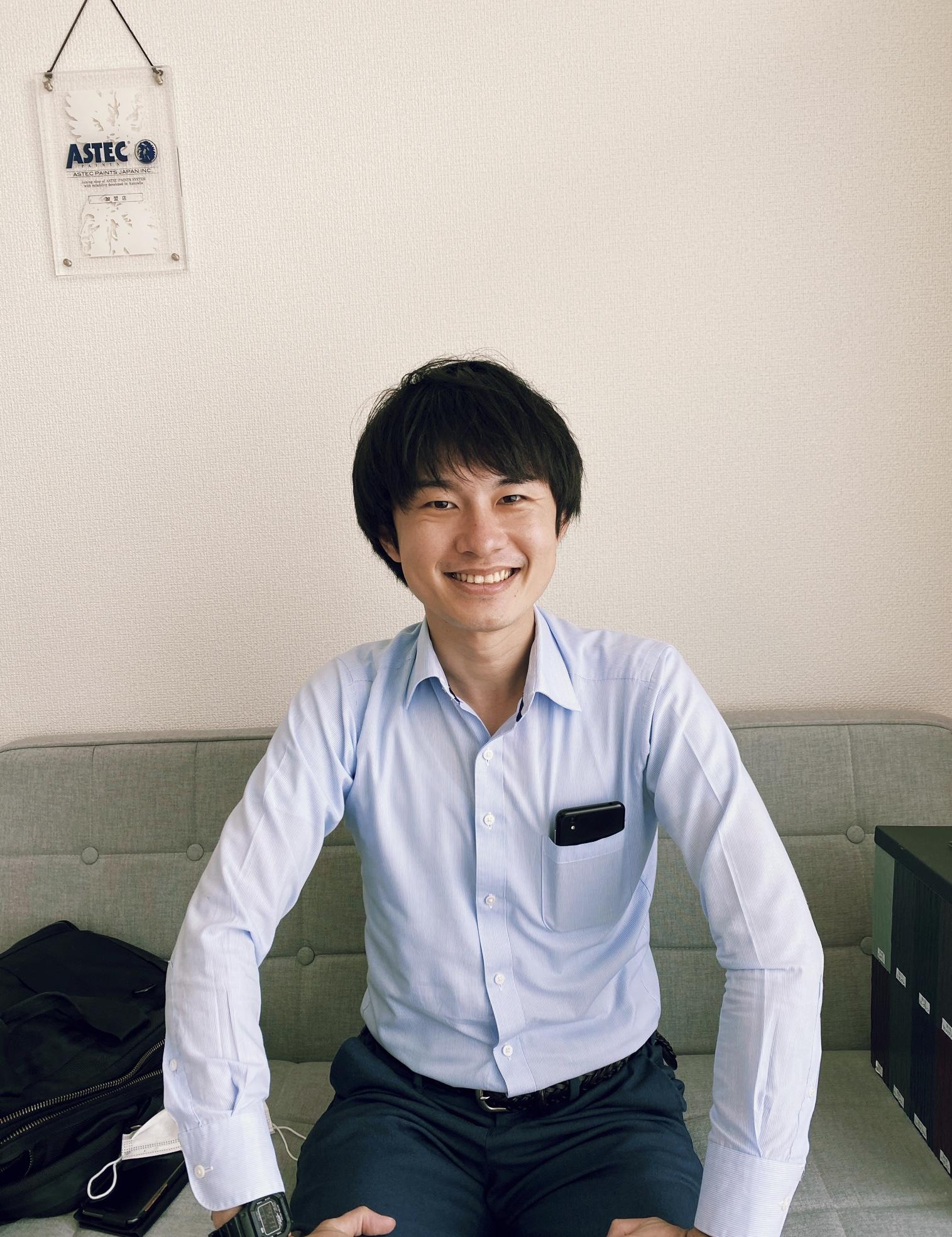 アステックペイントジャパン福岡営業所の池翔悟所長