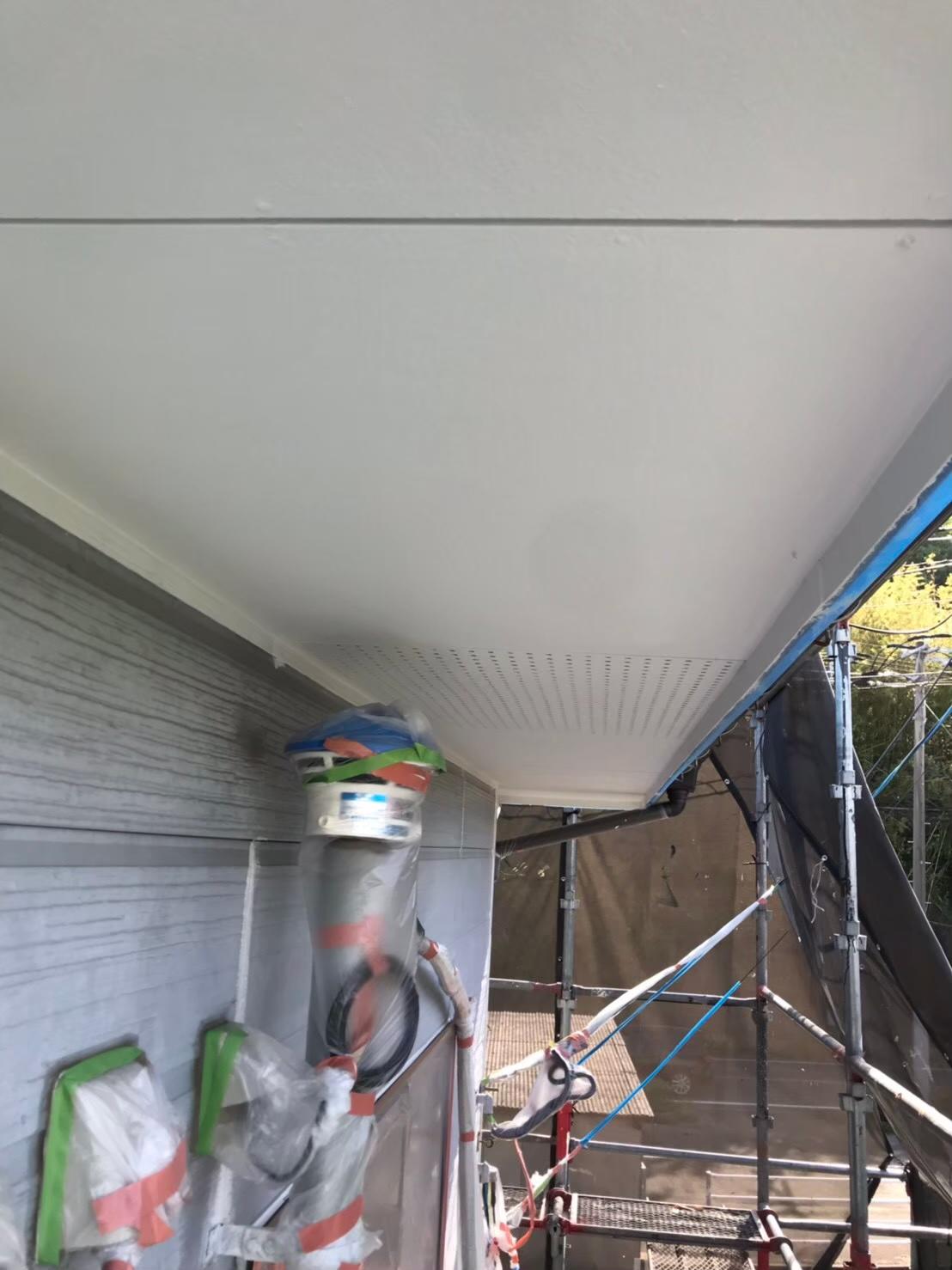 軒天塗装 写真3