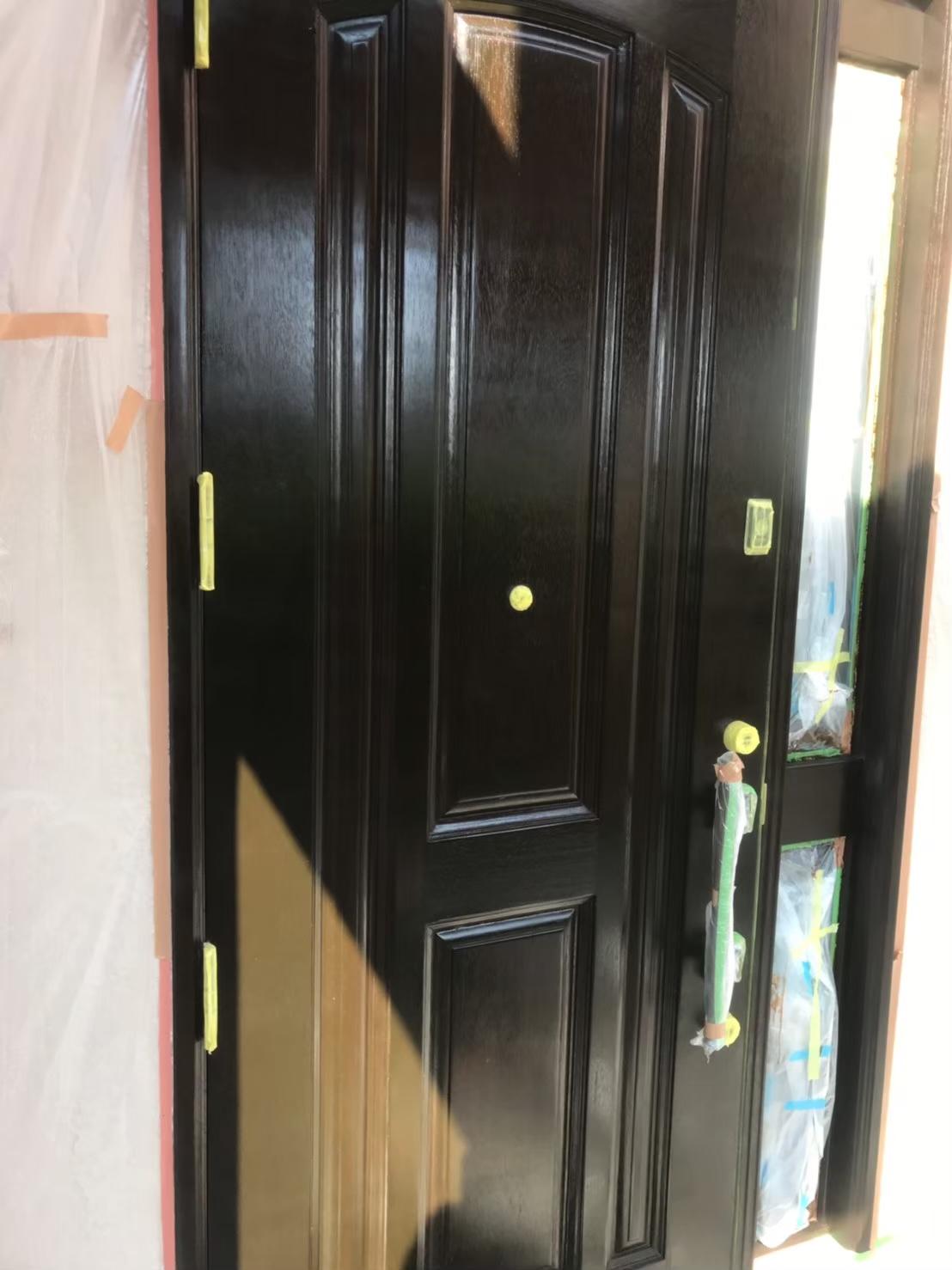 玄関ドア クリアー塗装 写真1