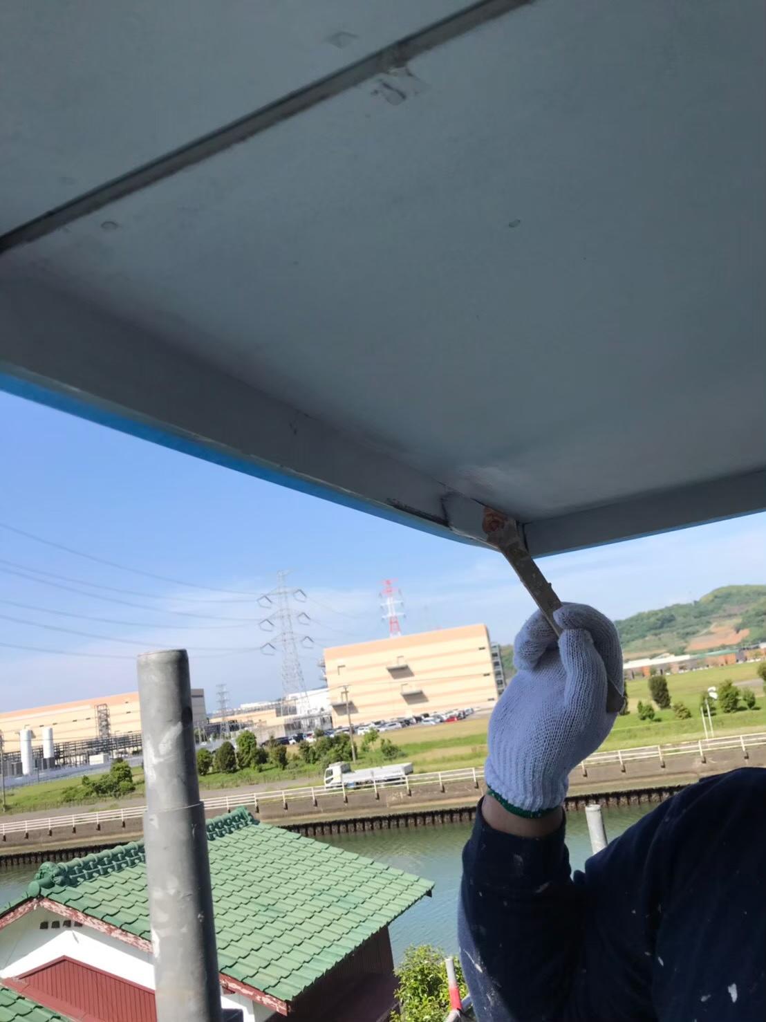 軒天塗装 写真1
