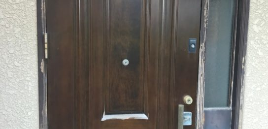 糟屋郡 玄関ドア塗装