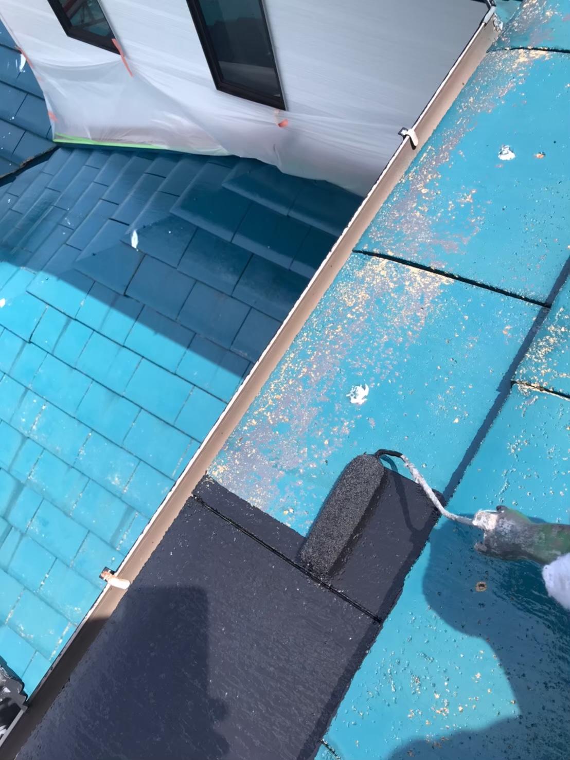 屋根中塗り 写真1