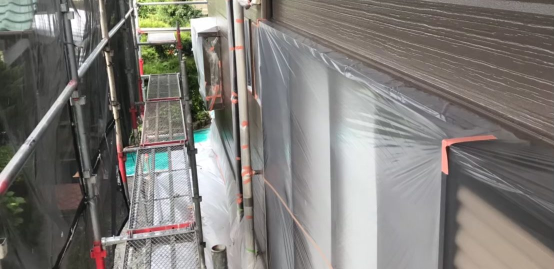 佐賀市 外壁下塗り・中塗り