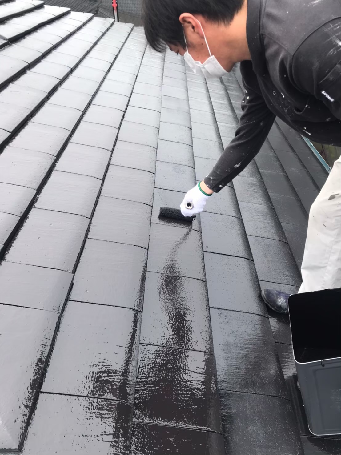 屋根上塗り 写真1