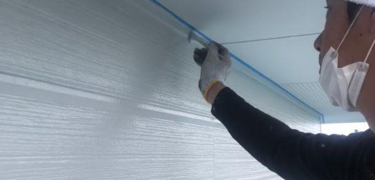 佐賀市 外壁上塗り・付帯塗装