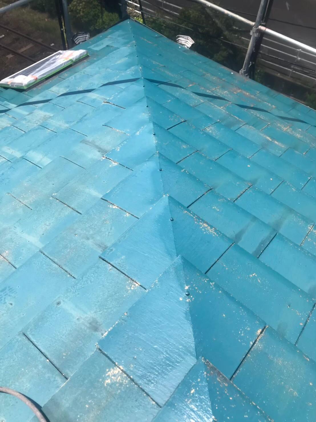 屋根下塗り 写真2