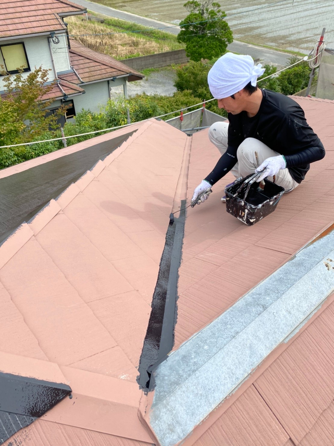 屋根 中塗り 写真1