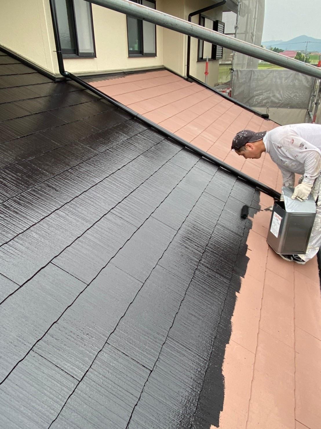 屋根中塗り 写真3