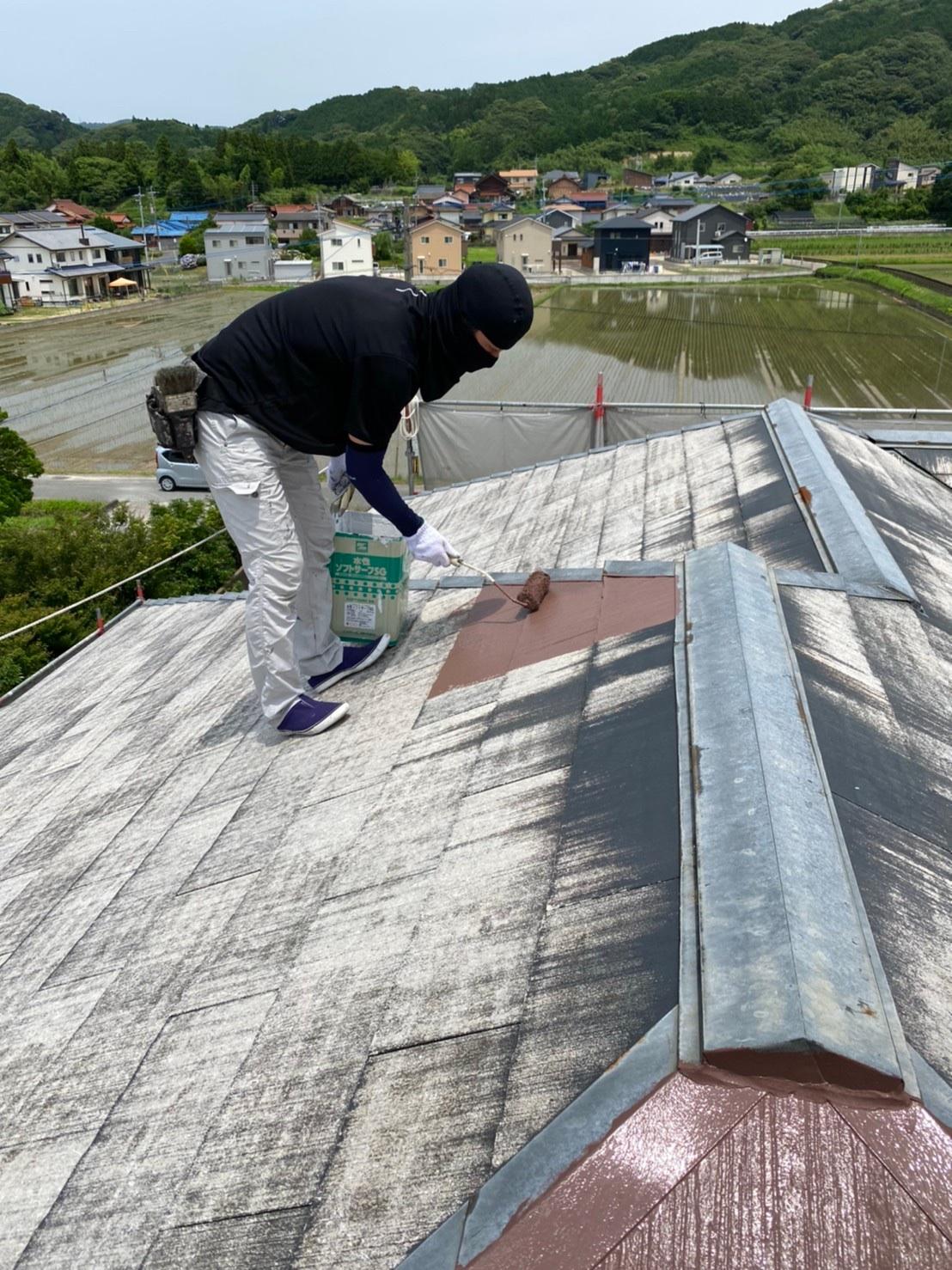 屋根下塗り 写真1