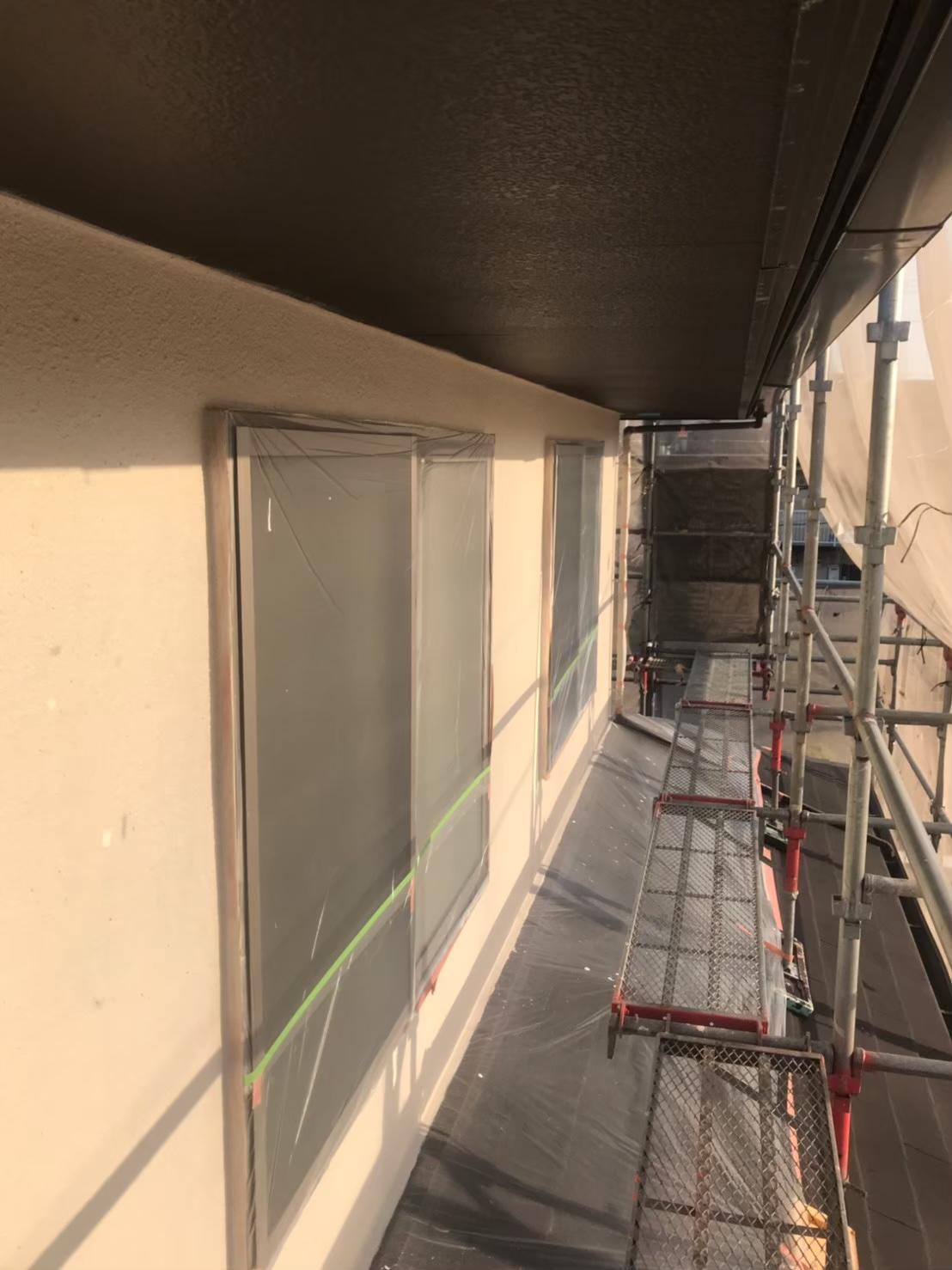 福岡市南区:外壁中塗り完了 写真1