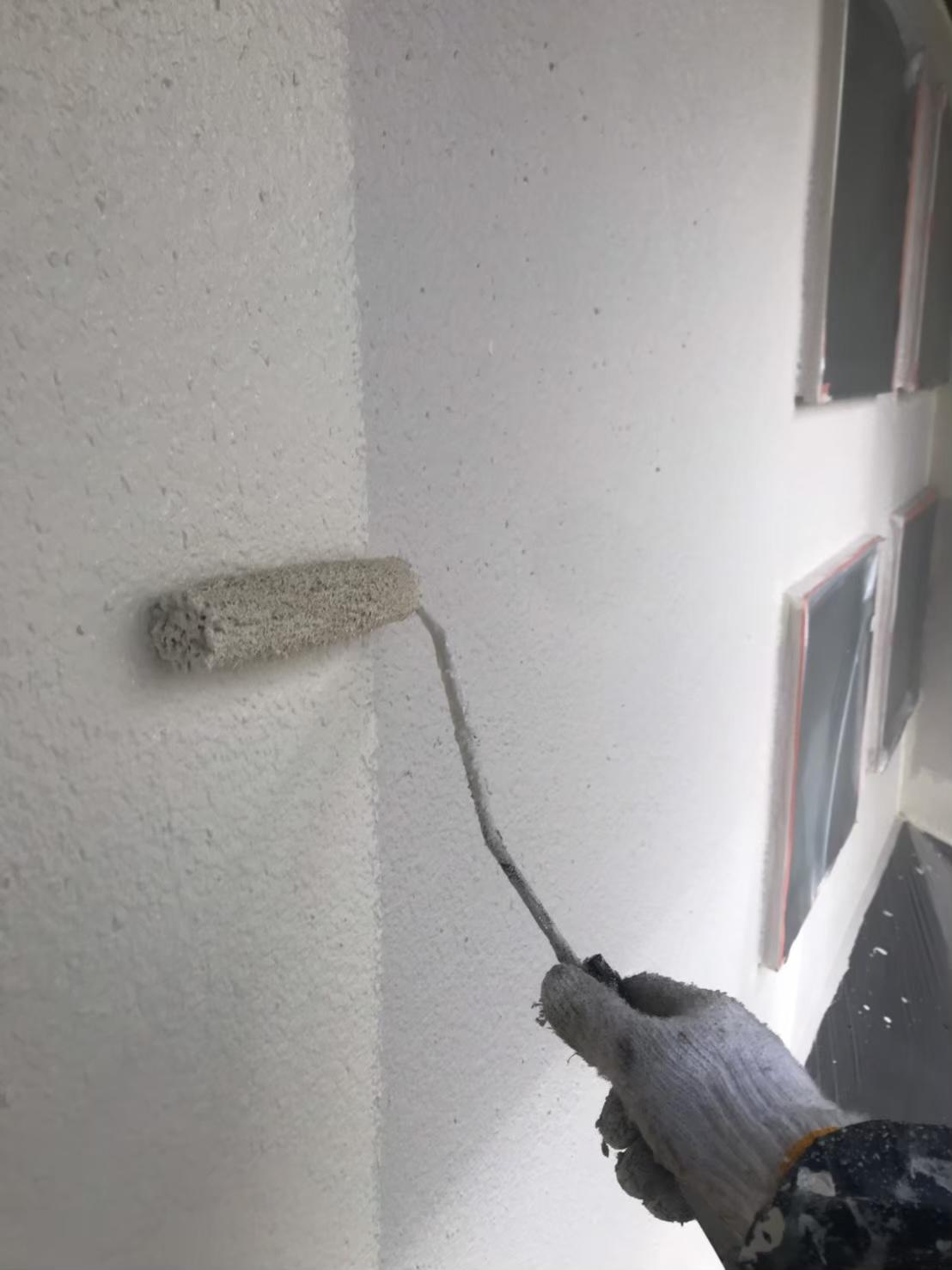 福岡市南区:外壁中塗り 写真1