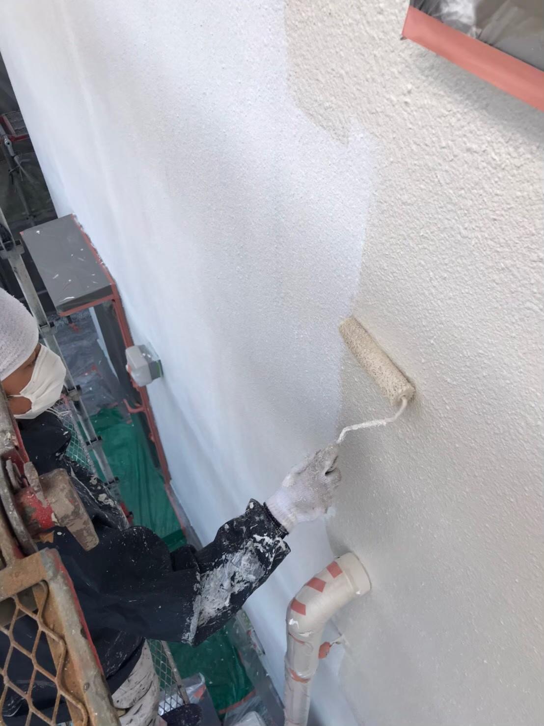 福岡市南区:外壁中塗り 写真2