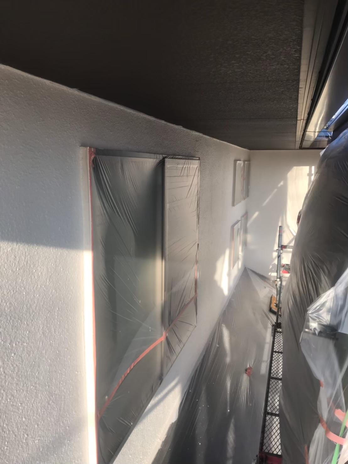 福岡市南区:外壁中塗り完了 写真2