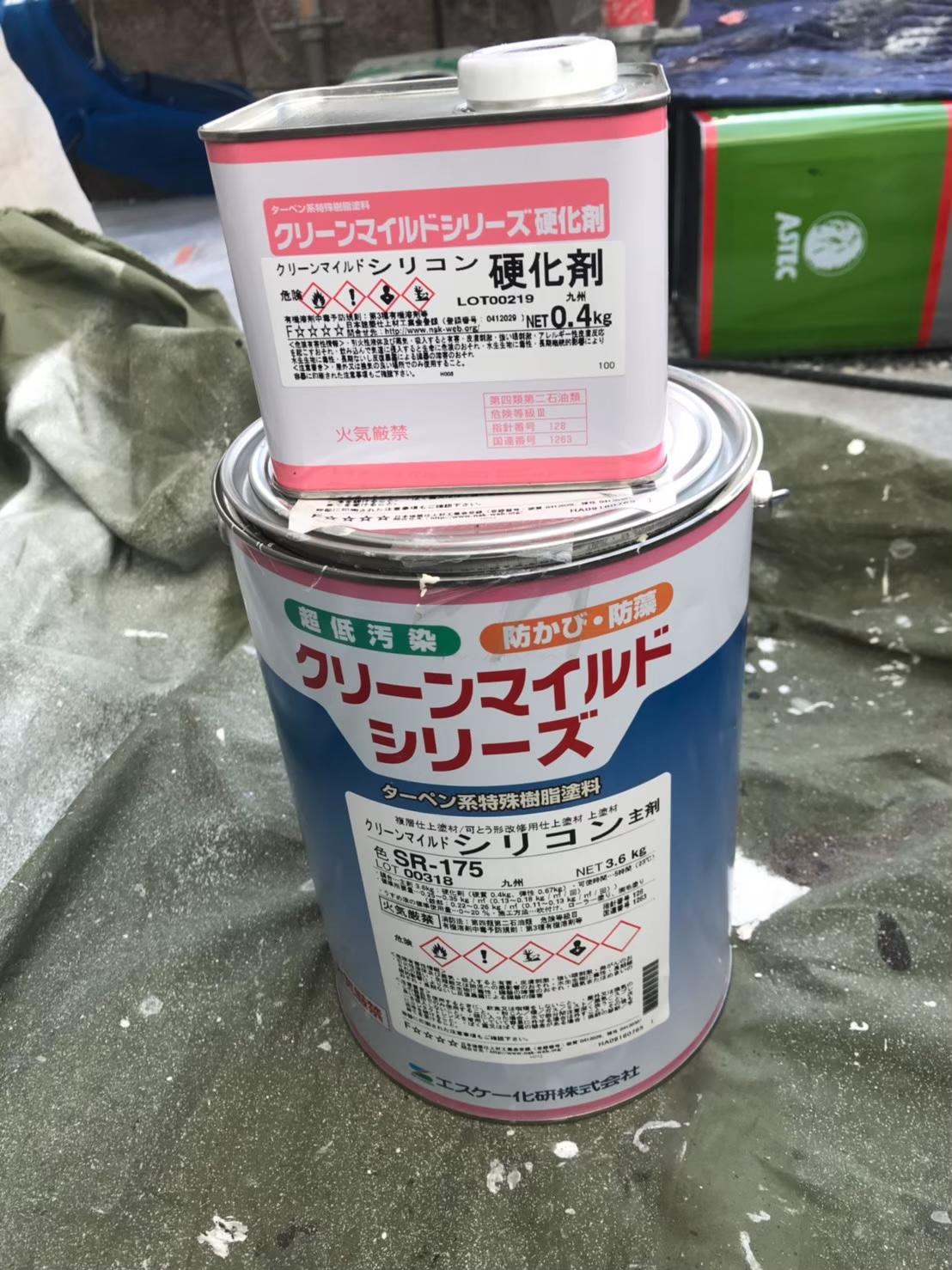 福岡市南区 付帯塗装:クリーンマイルドシリコン