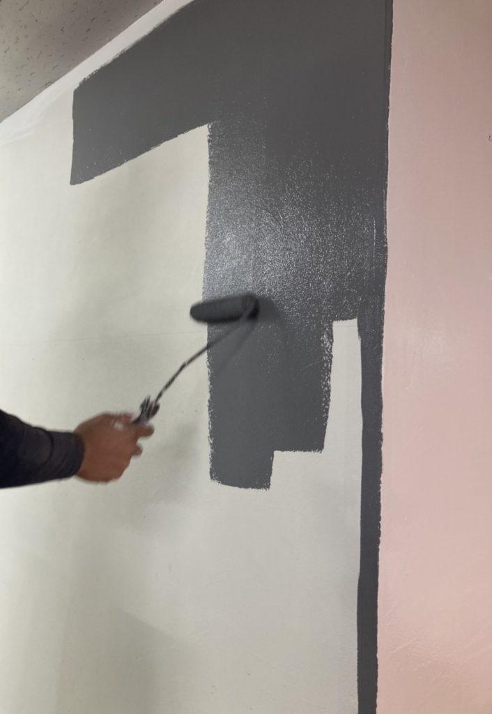 壁塗装 写真1