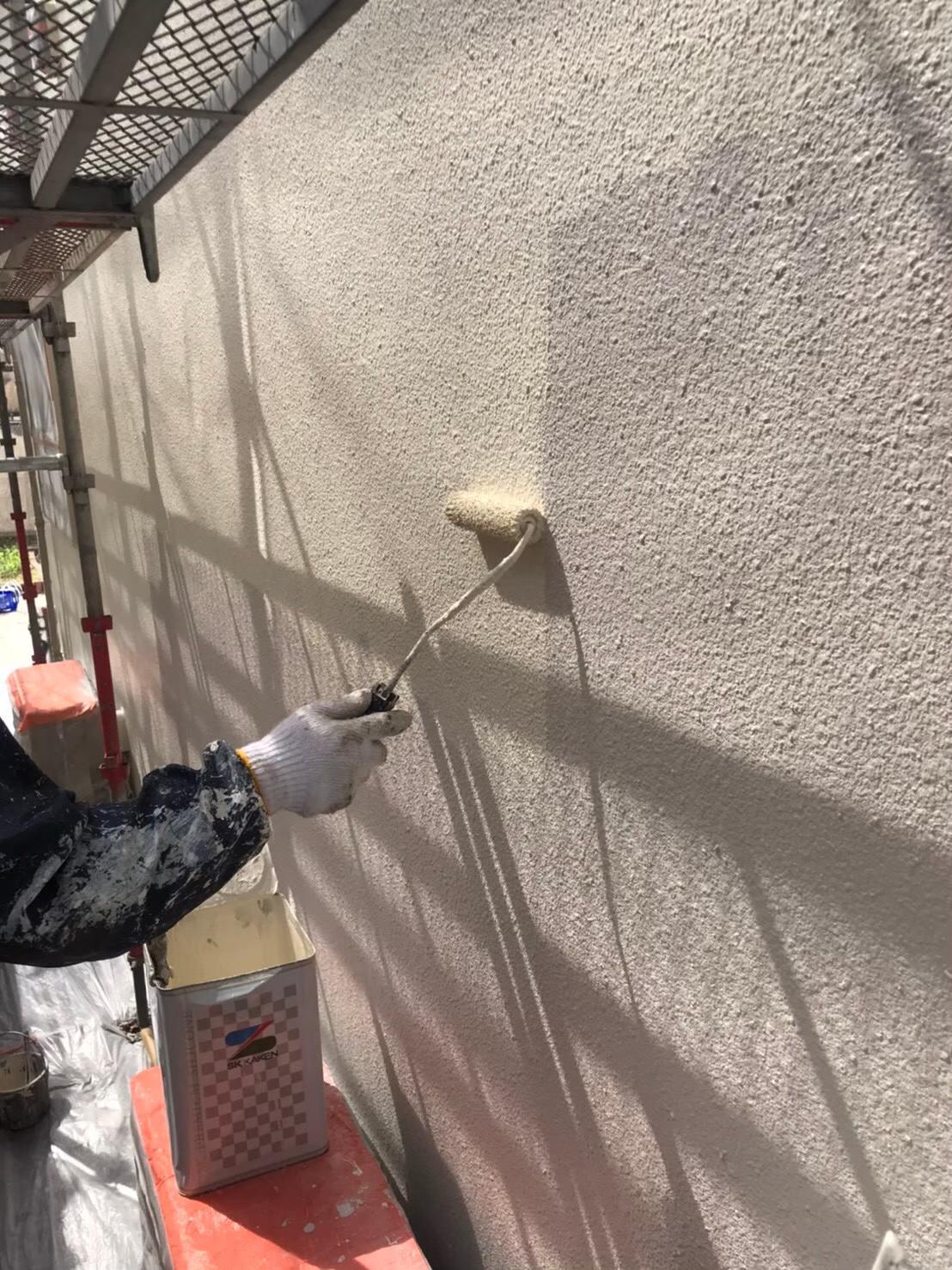 福岡市南区:外壁上塗り 写真2