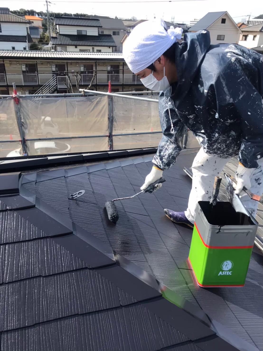 福岡市南区 屋根上塗り 写真1