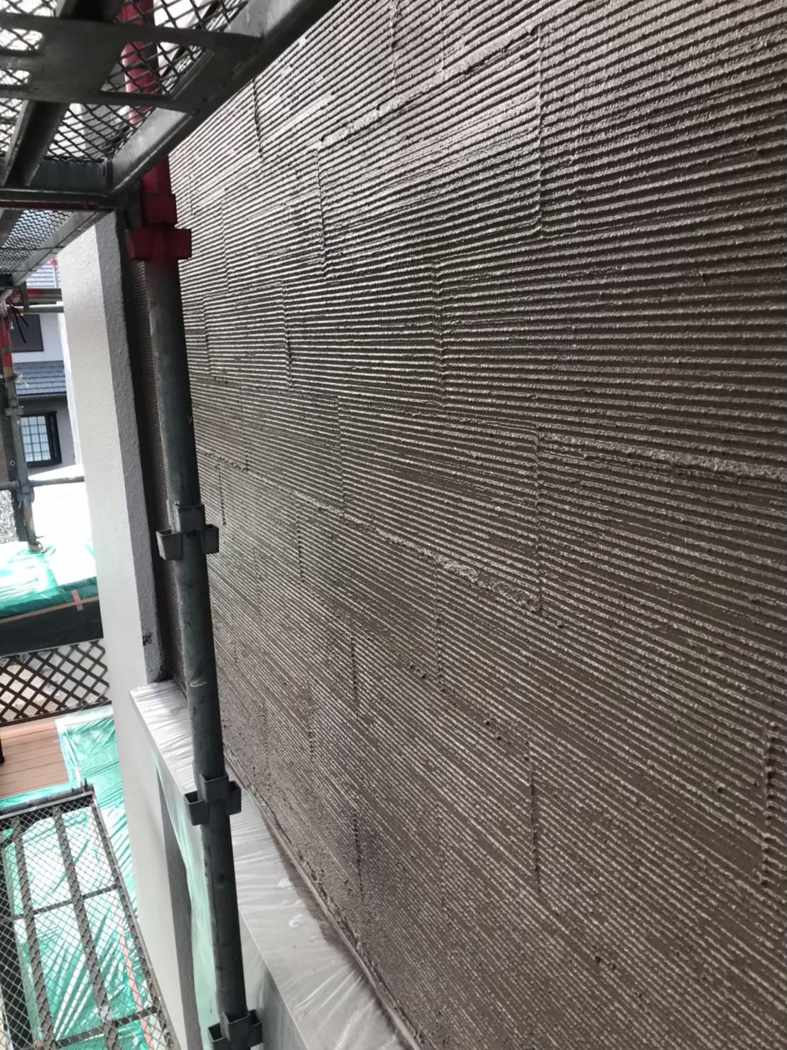 福岡市南区 アクセント部塗装:中塗り完了