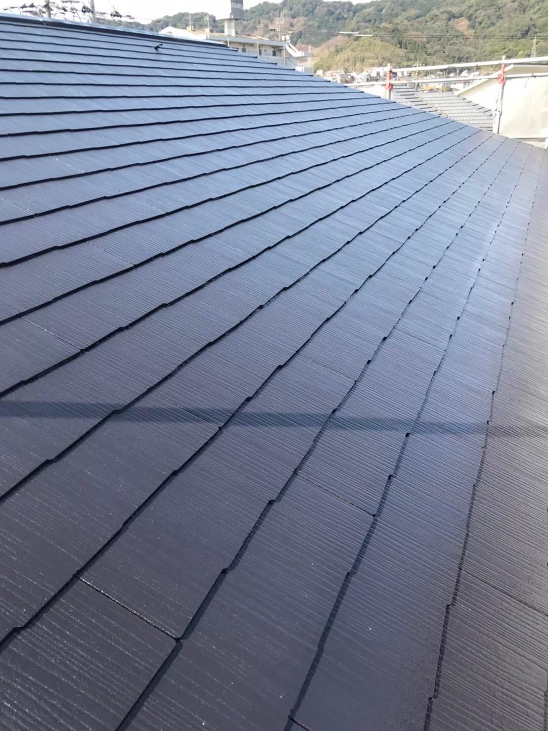 福岡市南区 屋根上塗り 完了1