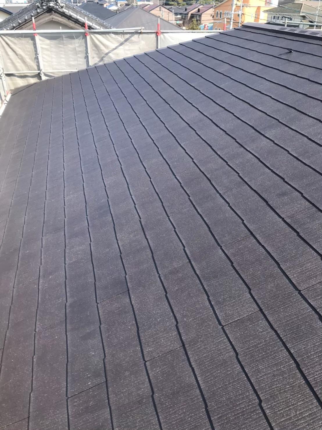 福岡市南区 屋根下塗り完了