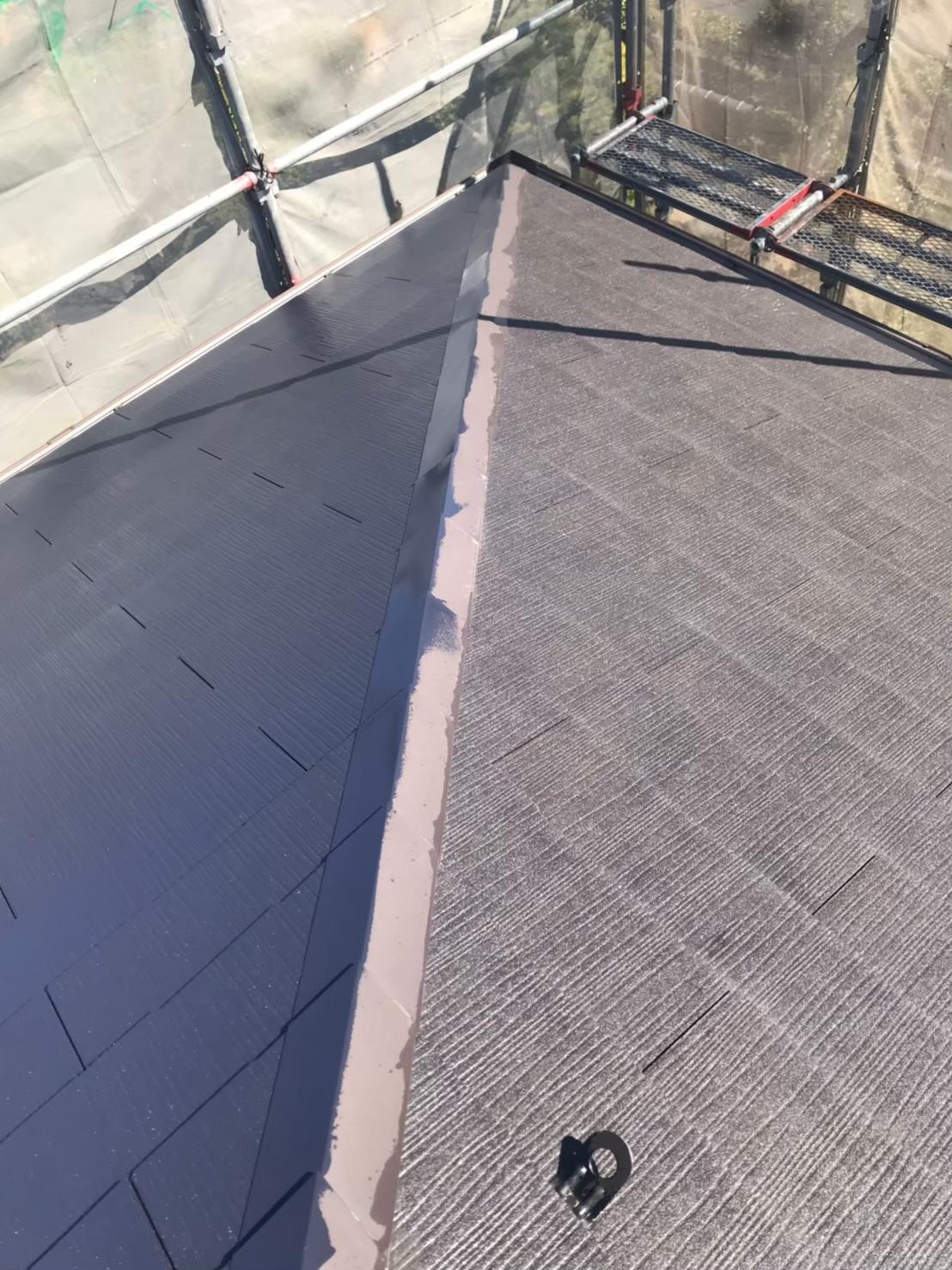 福岡市南区:屋根中塗り 写真2
