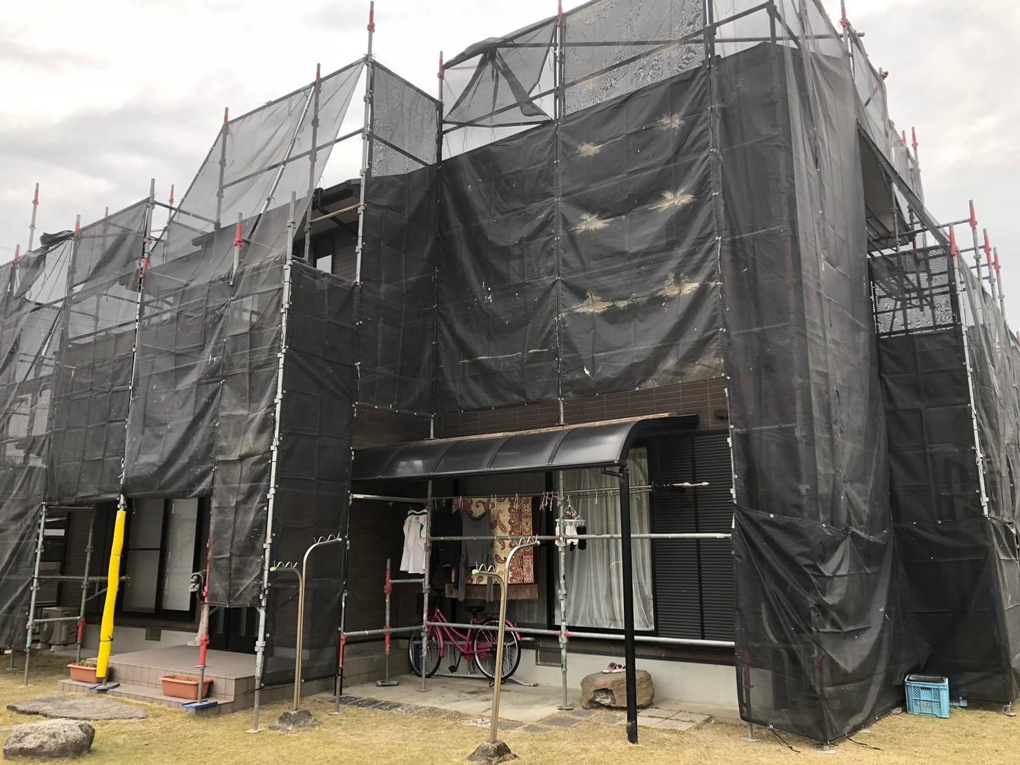 佐賀市の足場組立 写真4