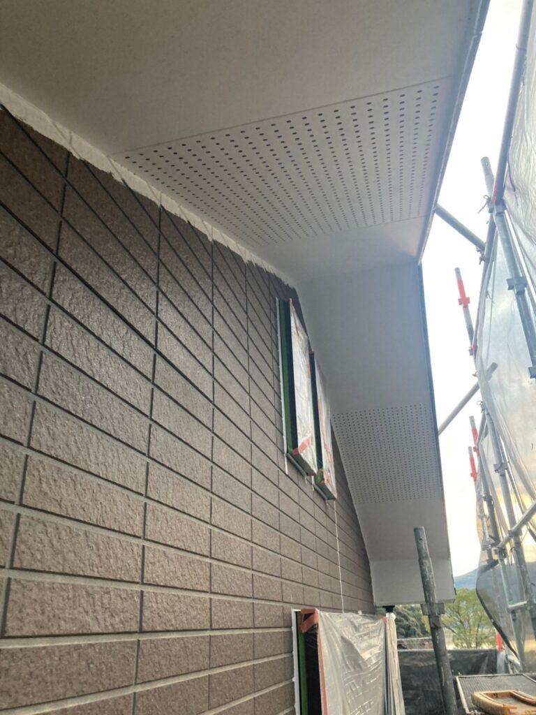 佐賀市 各所養生と軒天塗装 写真9