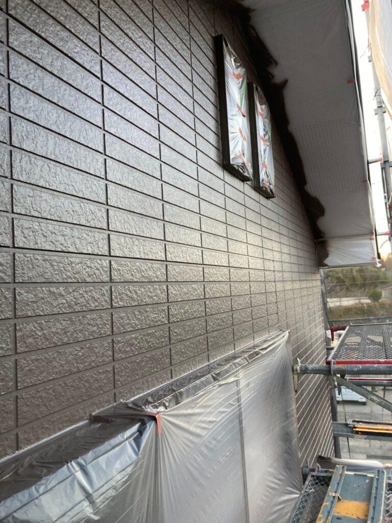 佐賀市 外壁の下塗りと中塗り 写真13