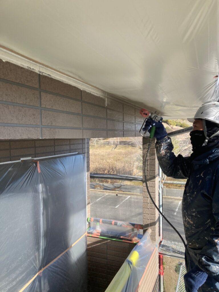 佐賀市 外壁の下塗りと中塗り 写真8