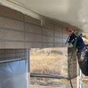 佐賀市 外壁の下塗りと中塗り