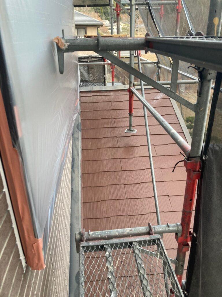 佐賀市 外壁上塗りと屋根下塗り 写真12