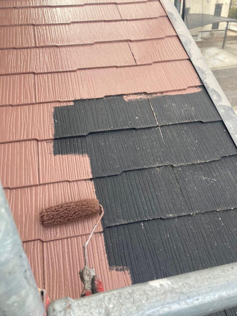 佐賀市 外壁上塗りと屋根下塗り 写真8