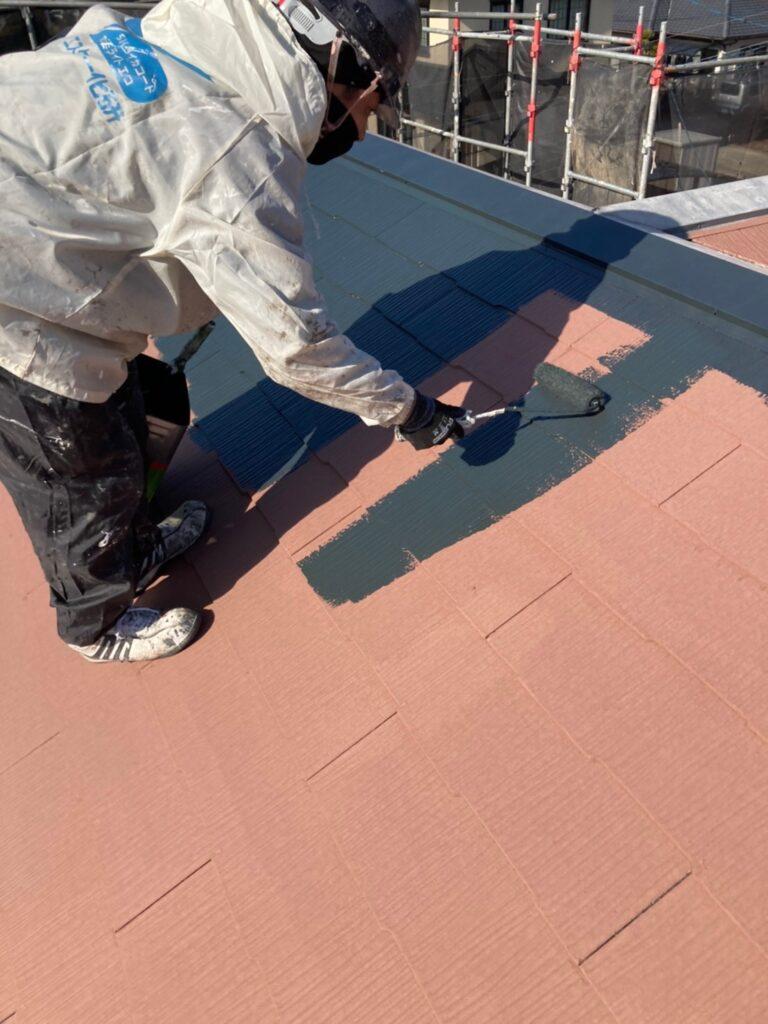 佐賀市 屋根中塗りと付帯塗装 写真2