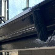 佐賀市の屋根中塗りと付帯塗装
