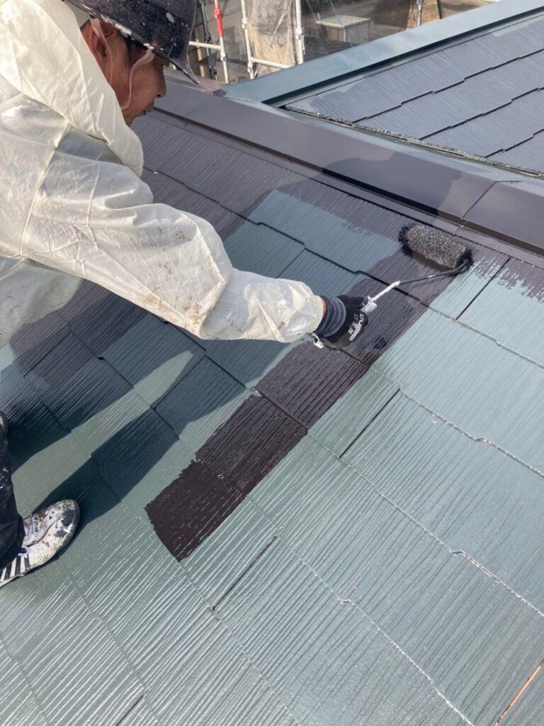 佐賀市 屋根上塗り・雨戸塗装・ベランダ塗装 写真1