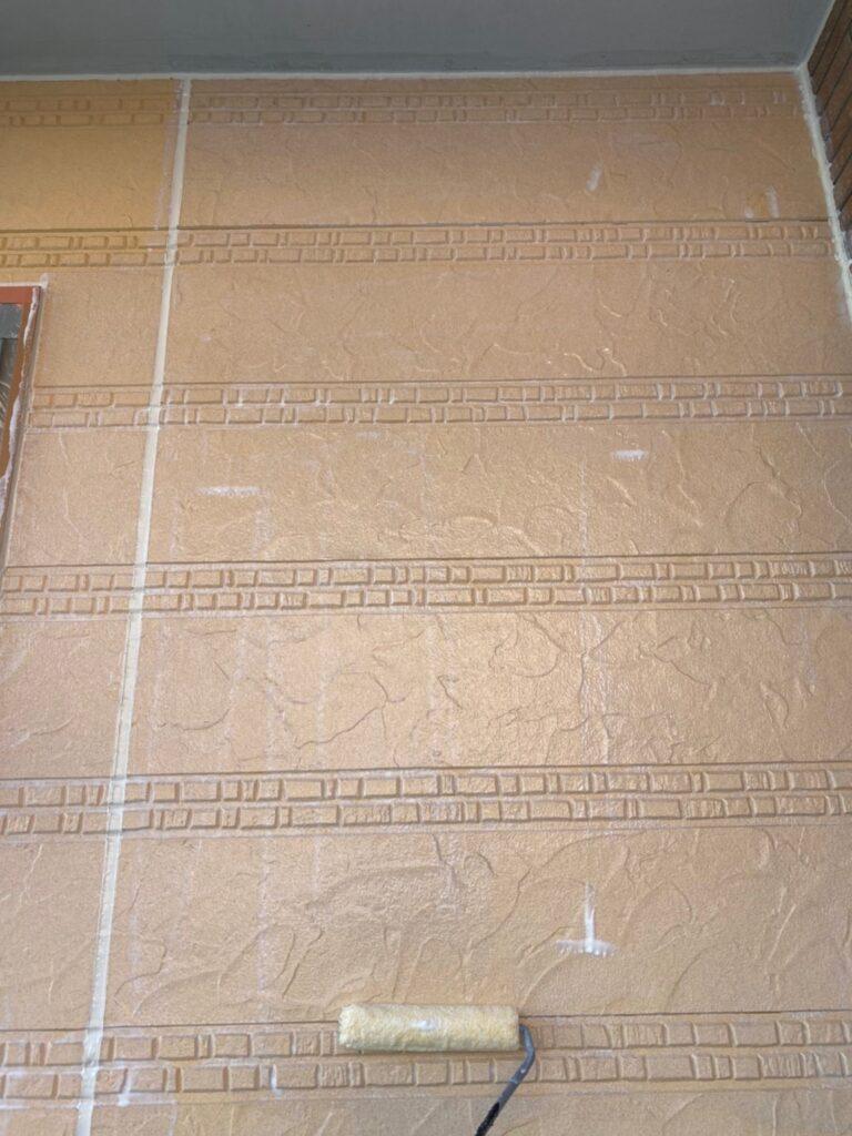 久留米市 軒天塗装と外壁下塗り 写真11