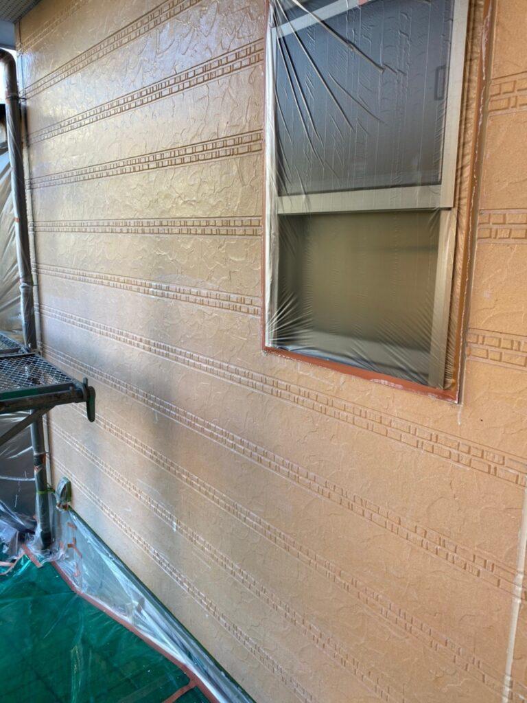 久留米市 軒天塗装と外壁下塗り 写真16