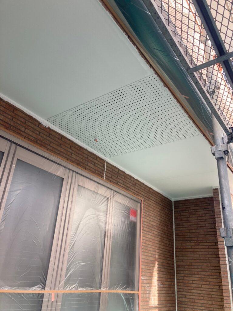 久留米市 軒天塗装と外壁下塗り 写真6