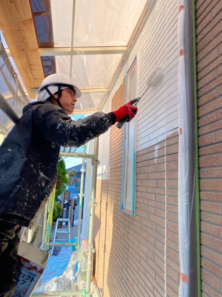 久留米市 続:外壁下塗り 写真5