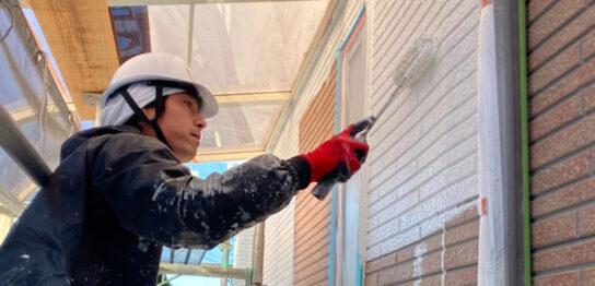 久留米市 続:外壁下塗り