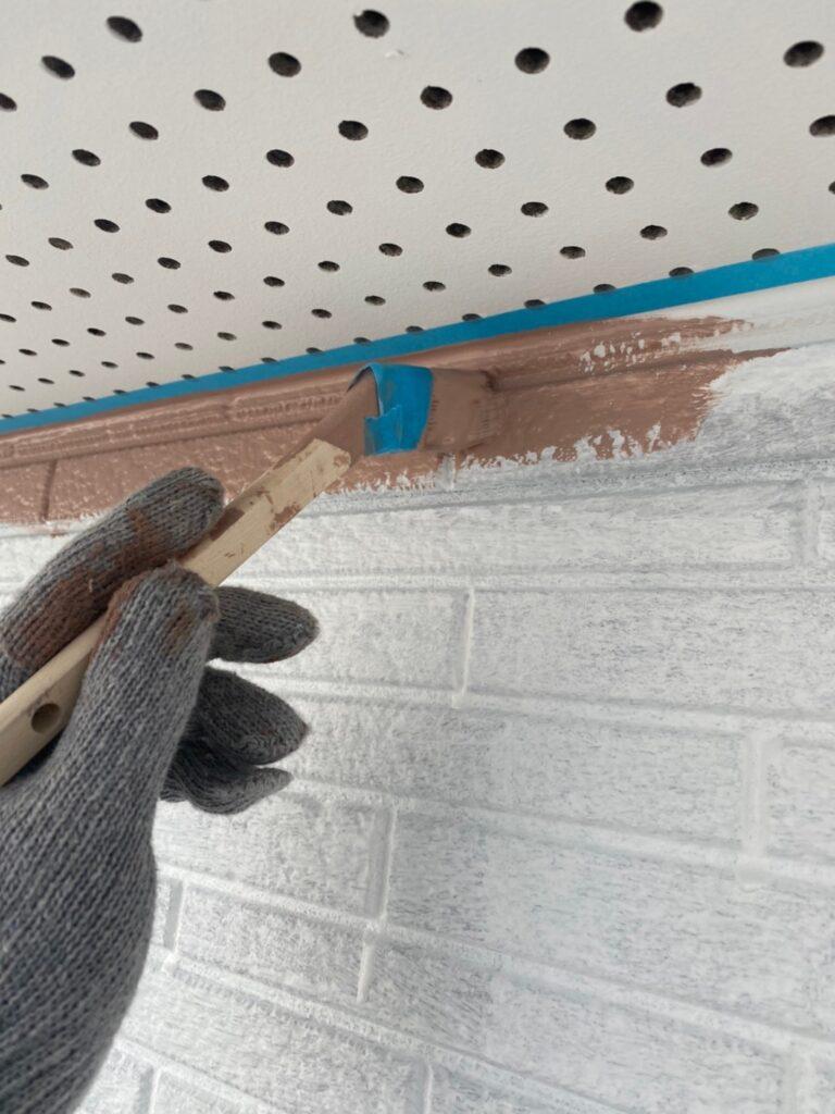 久留米市 外壁中塗り 写真2