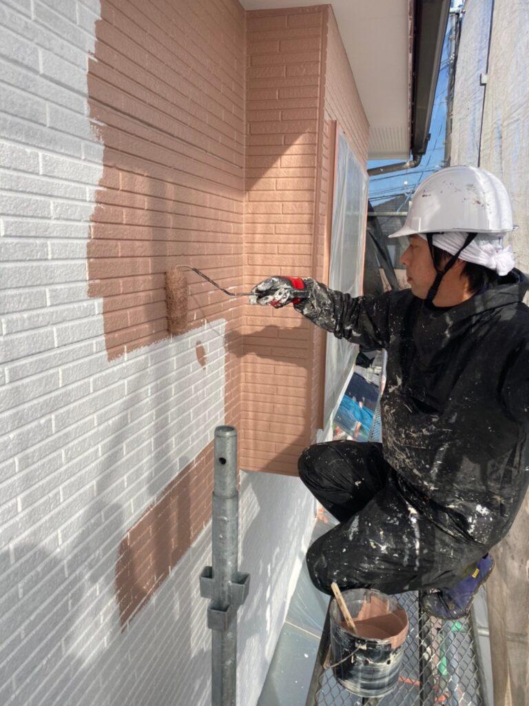 久留米市 外壁中塗り 写真3