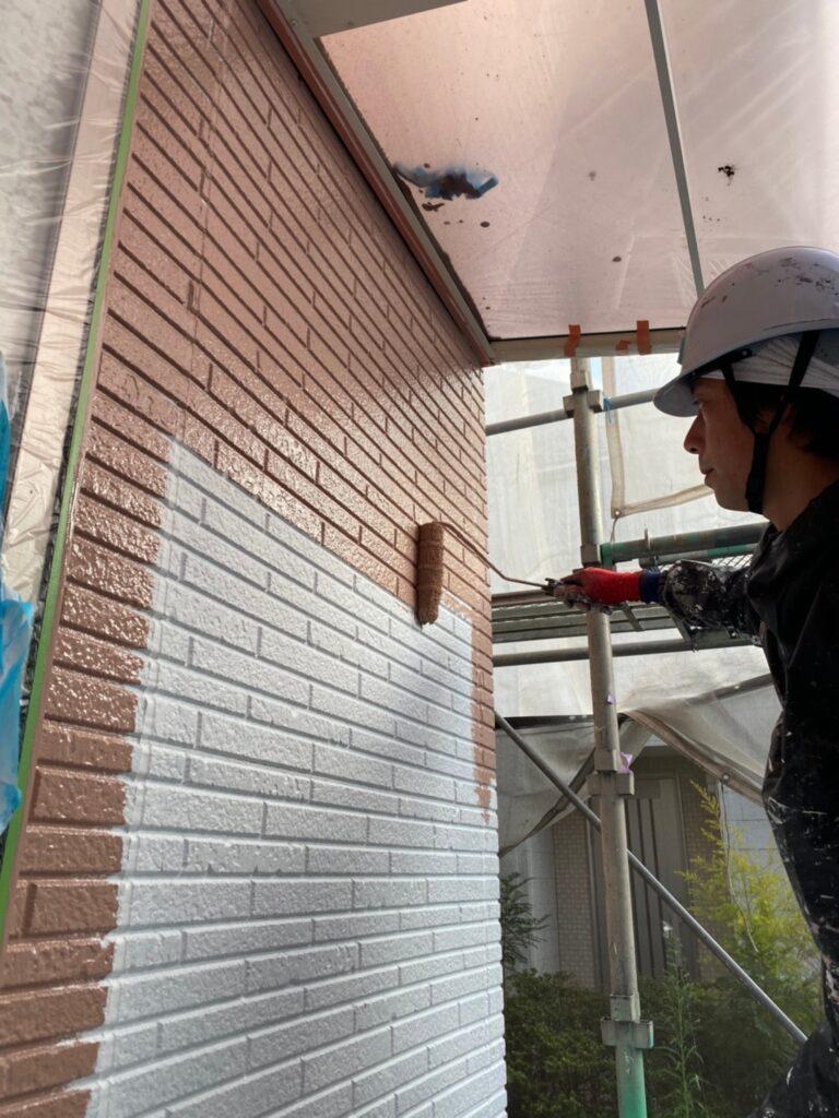 久留米市 外壁中塗り 写真6