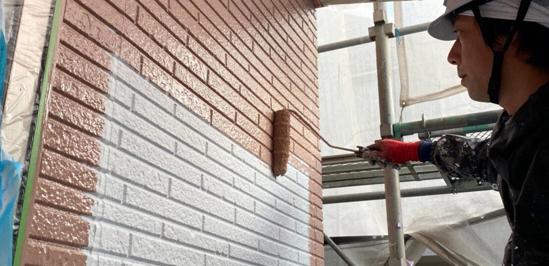 久留米市 外壁中塗り