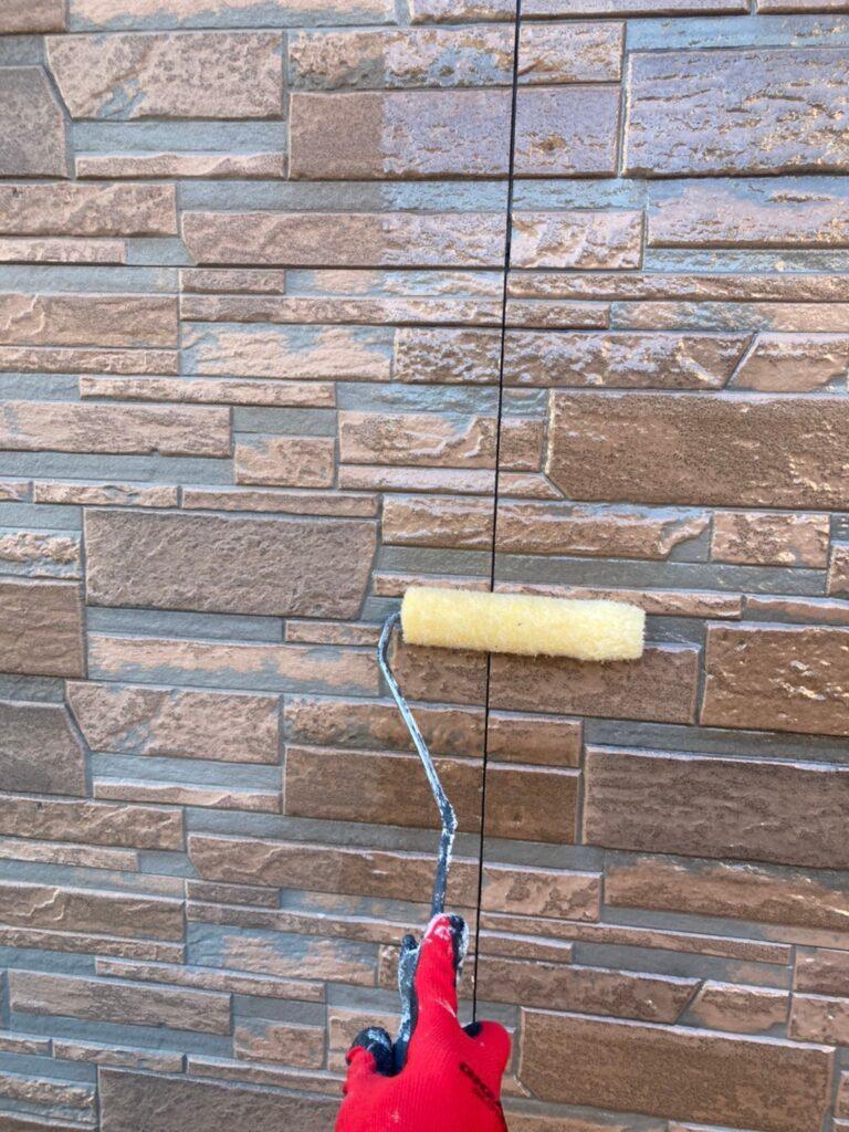久留米市 屋根上塗りと車庫外壁クリアー塗装 写真10