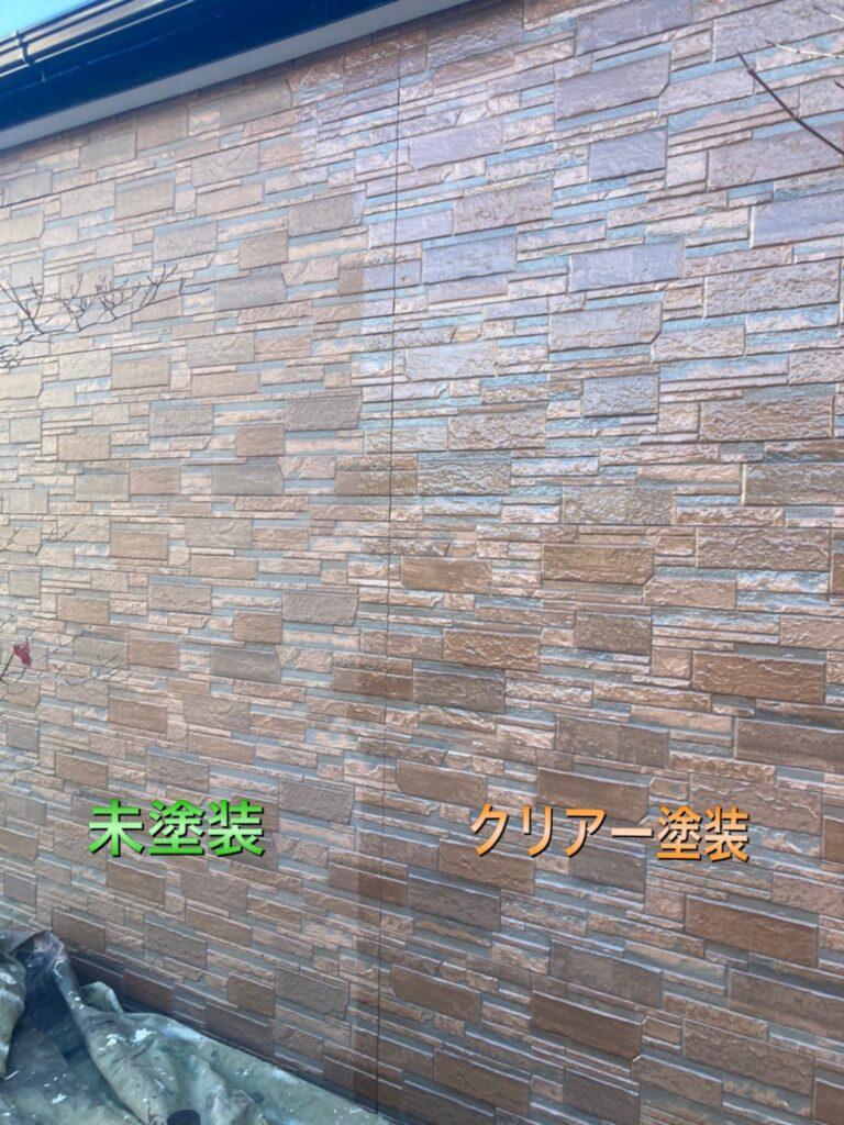 久留米市 屋根上塗りと車庫外壁クリアー塗装 写真11