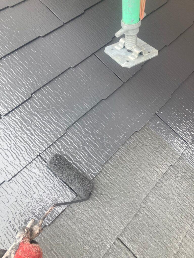 久留米市 屋根上塗りと車庫外壁クリアー塗装 写真4
